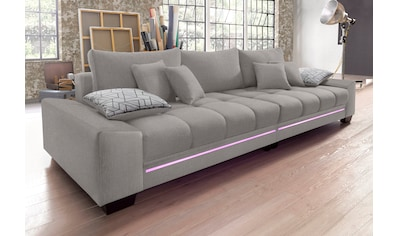 Nova Via Big-Sofa, wahlweise mit Kaltschaum (140kg Belastung/Sitz), mit RGB-LED-Beleuchtung und Bluetooth-Soundsystem kaufen