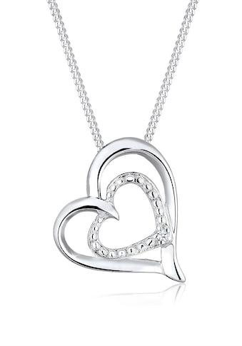 Diamore Collierkettchen »Herz Liebes Diamant (0.015 ct.) 925 Silber« kaufen