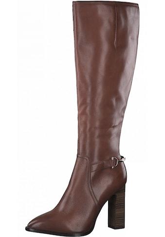 Tamaris High-Heel-Stiefel »Heart & Sole«, mit goldfarbenen Details kaufen
