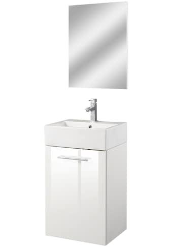 Oristo Badmöbel-Set »Epsilon«, (3 St.), Badmöbel-Set mit Spiegel, Waschbecken und... kaufen