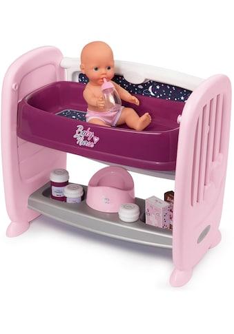 Smoby Puppenbett »Baby Nurse Puppen-Beistellbett«, zum Wickeltisch umbaubar; Made in Europe kaufen