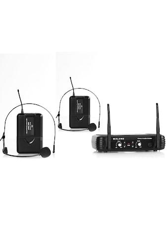 Malone UHF Funkmikrofon Set 2 Kanal XLR Klinke AUX Ausgang »UHF 250 Duo2« kaufen
