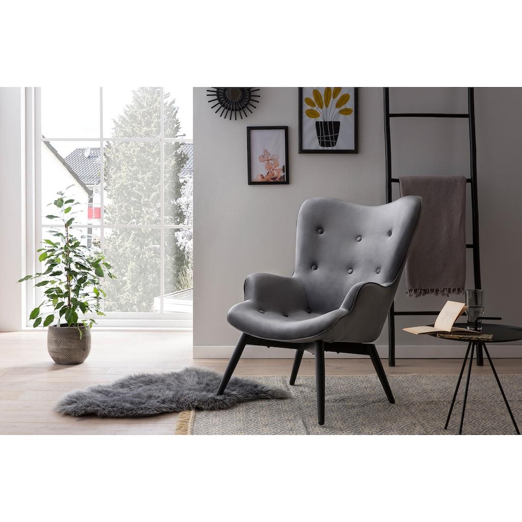 SalesFever Loungesessel, Zierknöpfe in Sitz und Rücken
