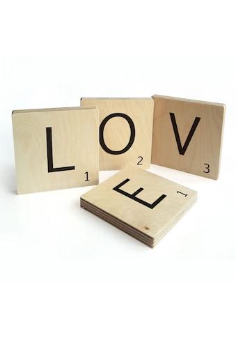 Wall-Art Wandspruch »Scrabble Deko Buchstaben Love« kaufen