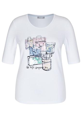 Rabe T-Shirt, mit Print und Glitzersteinen kaufen