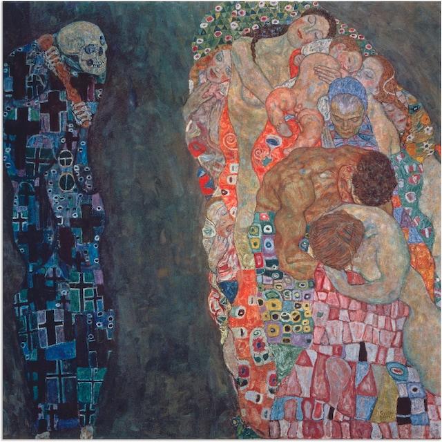 Artland Wandbild »Tod und Leben. Vollendet 1916.«