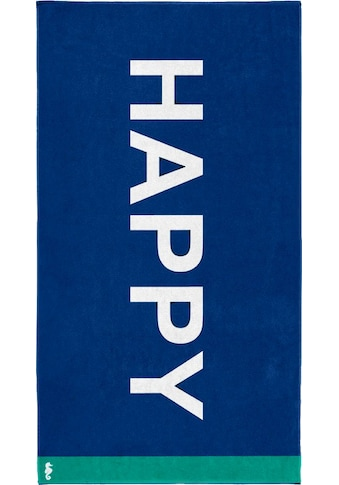 Seahorse Strandtuch »Happy«, (1 St.), mit Schriftzug kaufen
