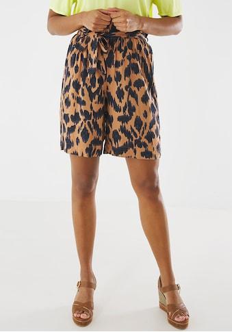 Mexx Shorts, mit Allover-Animal-Print und Bindeband vorne kaufen