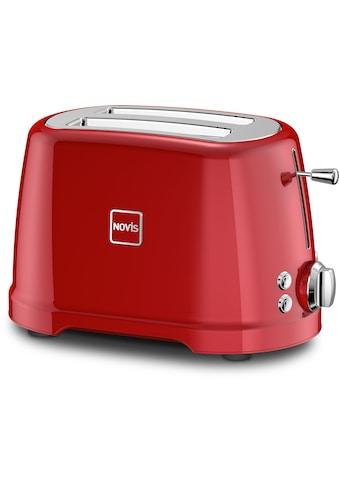 NOVIS Toaster »T2 rot«, 2 kurze Schlitze, 900 W kaufen