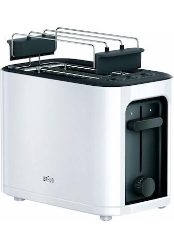 Braun Toaster »HT 3010 WH«, 2 kurze Schlitze, für 2 Scheiben, 1000 W kaufen