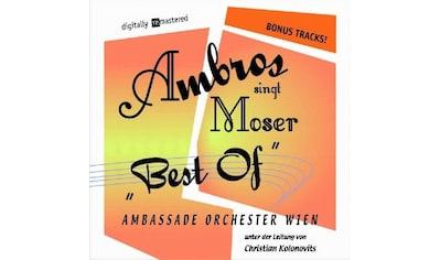 Musik-CD »Ambros singt Moser 1+2 (Best of+Bonus Tracks) / Ambros,Wolfgang« kaufen