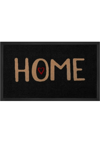 HANSE Home Fußmatte »Lovely Home«, rechteckig, 5 mm Höhe, Fussabstreifer, Fussabtreter, Schmutzfangläufer, Schmutzfangmatte, Schmutzfangteppich, Schmutzmatte, Türmatte, Türvorleger, mit Spruch, In- und Outdoor geeignet, waschbar kaufen