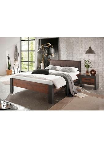 Home affaire Bettanlage »BROOKLYN«, (Set, Einzelbett mit Polsterkopfteil, Nachtkommode) kaufen