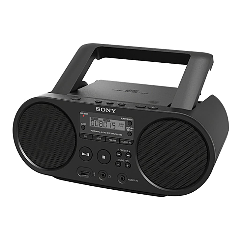 Sony Boombox »ZS-PS50«, ( AM-Tuner-FM-Tuner 4 W), CD-Laufwerk, Front-USB, MP-3