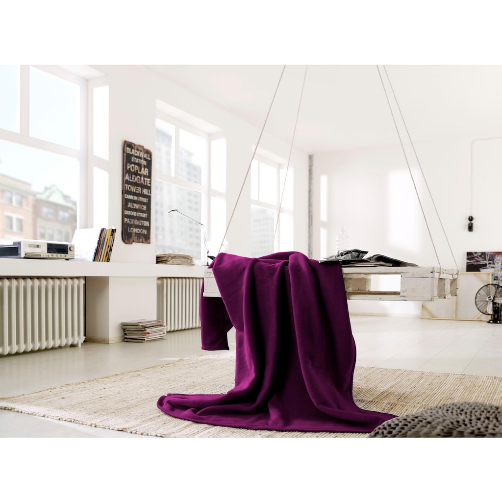 BIEDERLACK Wohndecke »Wohndecke Cotton Home«, im Uni Design