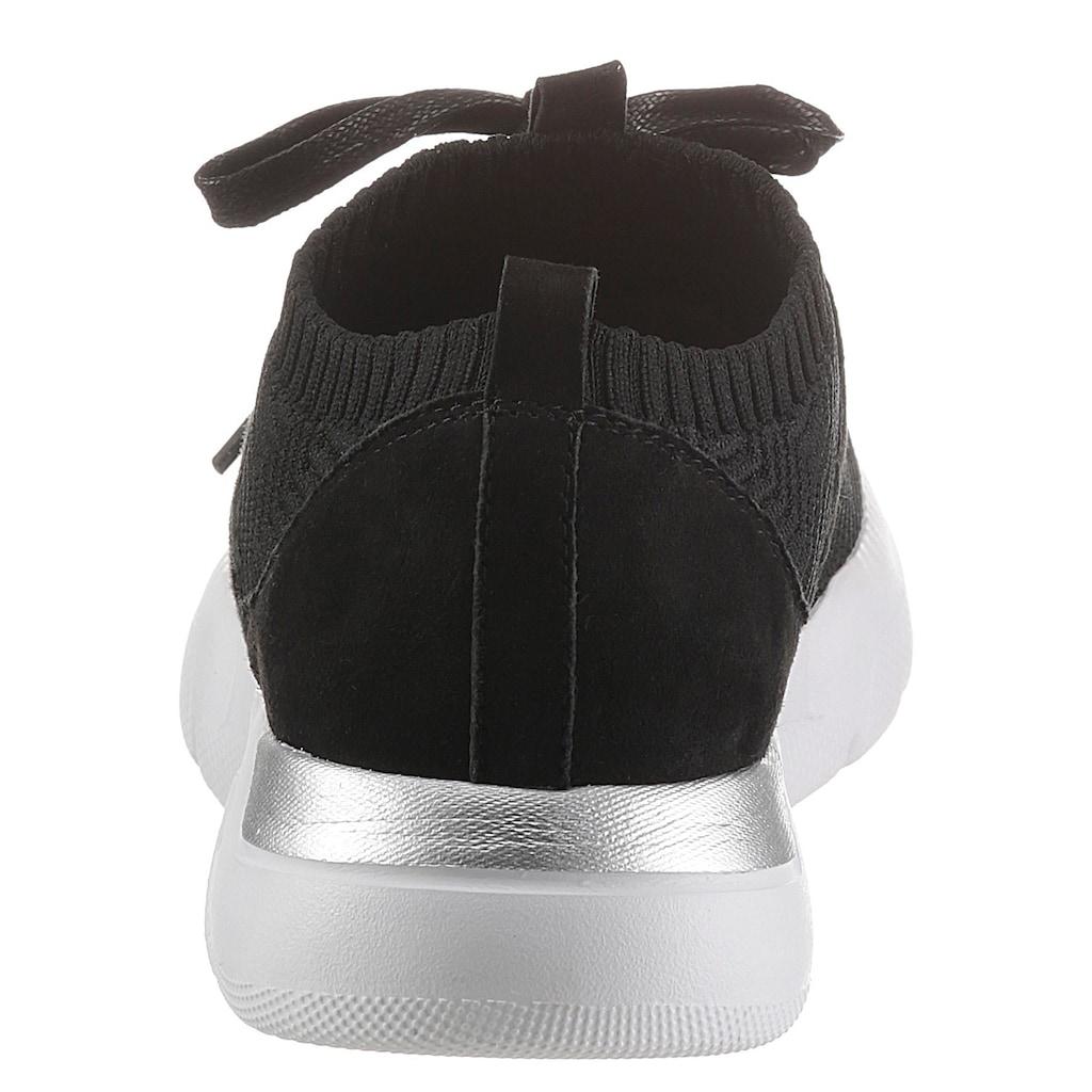 Jana Slip-On Sneaker, mit aufgesetzter Schnürung