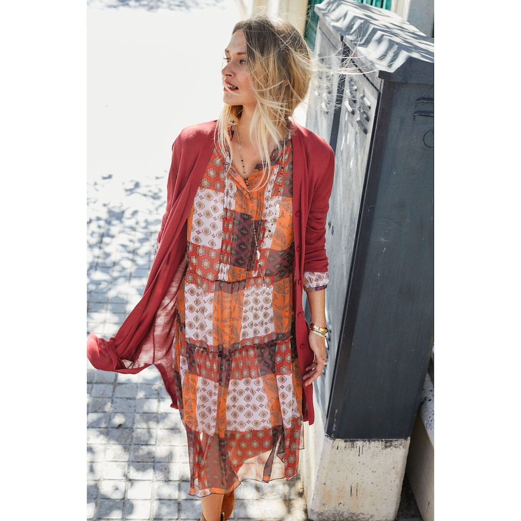 Aniston CASUAL Chiffonkleid, mit Blumen- oder Patchdruck