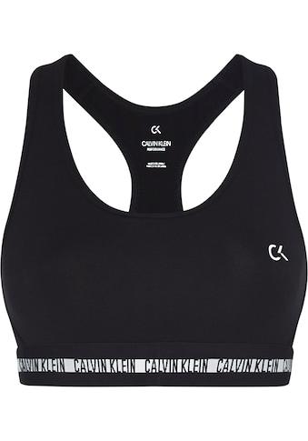 Calvin Klein Performance Sport-Bustier »WO - COTTON ELASTANE BRA«, mit Trägern für... kaufen