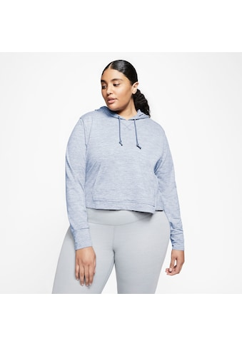 Nike Kapuzensweatshirt »YOGA JERSEY CROP HOODIE PLUS SIZE«, In großen Größen kaufen