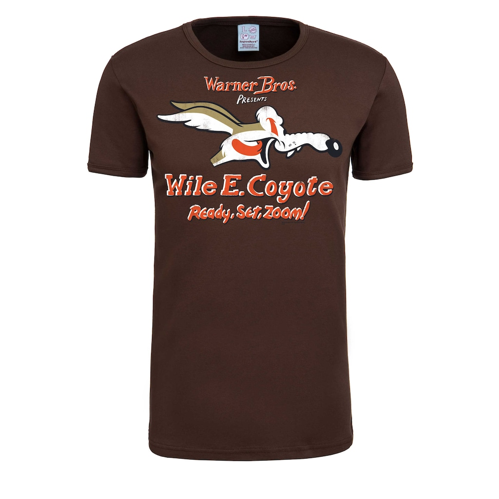 LOGOSHIRT T-Shirt »Coyote Looney Tunes«, mit Coyote-Print