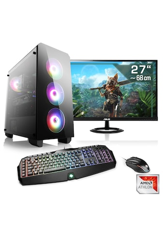 "CSL Gaming PC Set Athlon X4 870K | GTX 1050 Ti | 16GB RAM | 27"" TFT »Sprint T2161 Windows 10 Home« kaufen"