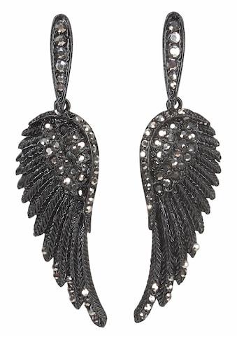 J.Jayz Paar Ohrstecker »Flügel-Design«, (1 tlg.), mit Glassteinen kaufen