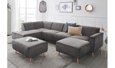 andas Wohnlandschaft »Janek«, mit Federkern und Keder in scandinavischem Design kaufen
