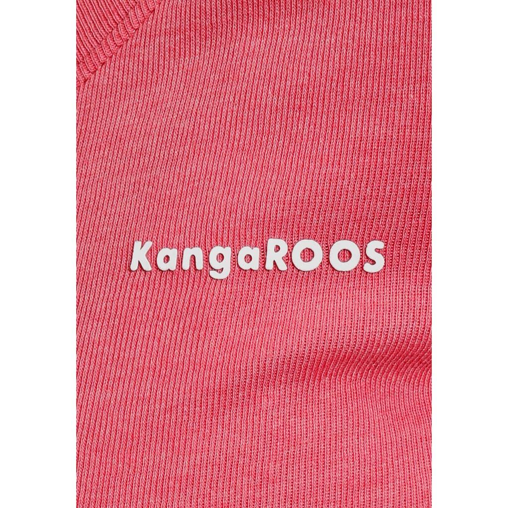 KangaROOS Langarmshirt, im Doppelpack in toller Basic-Form