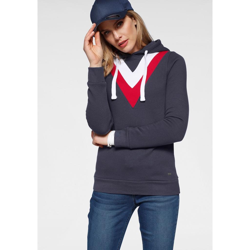 Arizona Kapuzensweatshirt, im Colorblockingstyle