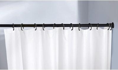 Kleine Wolke Duschvorhangstange »Federstange«, ausziehbar-kürzbar, schwarz, für Duschvorhänge, hochwertige Verarbeitung, Länge 75-125 cm kaufen