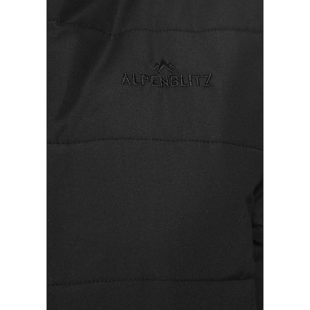 ALPENBLITZ Steppjacke »Flockenwirbel«, moderne Winterjacke mit abnehmbarer Kapuze