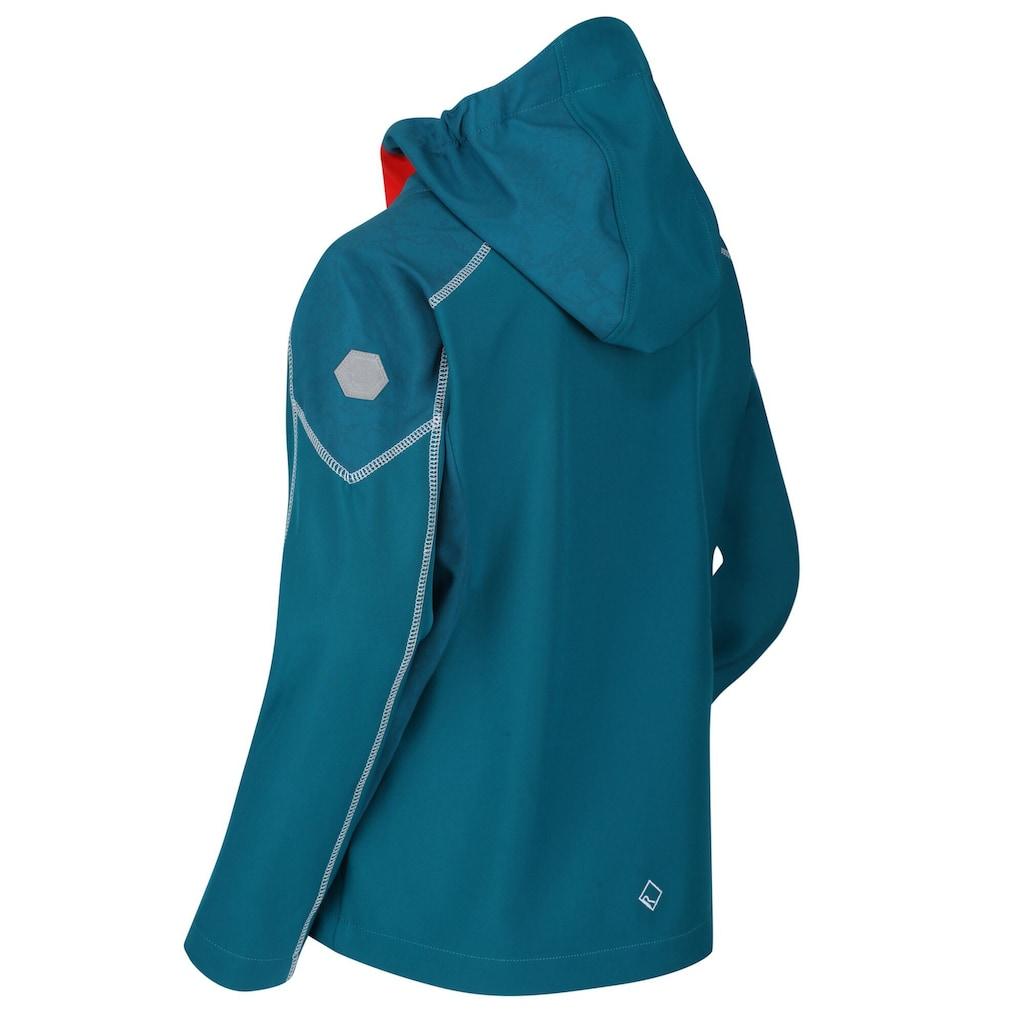 Regatta Softshelljacke »Kinder Acidity IV Reflective Kapuzen Softshell Jacke«