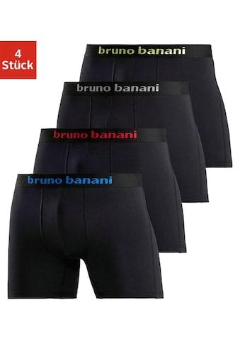 Bruno Banani Langer Boxer, (4 St.), mit schwarzem Logobund kaufen