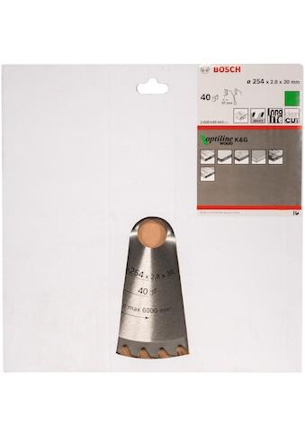 BOSCH Kreissägeblatt »Kreissägeblatt Optiline Wood«, 254 x 30 x 2,8 mm, 40 kaufen