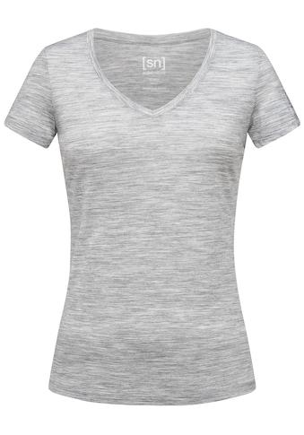 SUPER.NATURAL T-Shirt »W BASE V-NECK TEE 140«, feinster Merino-Materialmix kaufen