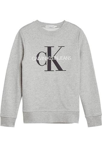 Calvin Klein Jeans Sweatshirt, Ärmel mit Rippbündchen kaufen