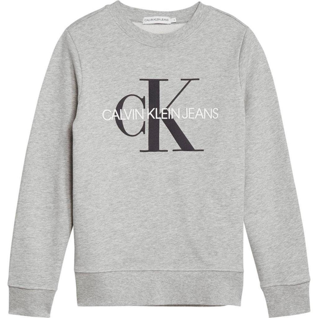 Calvin Klein Jeans Sweatshirt, Ärmel mit Rippbündchen