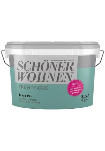SCHÖNER WOHNEN-Kollektion Wand- und Deckenfarbe »Trendfarbe Frozen, matt«, 2,5 l kaufen