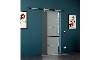 LEVIDOR Glastür »4 Streifen«, mit Stangengriff, in versch. Breiten kaufen