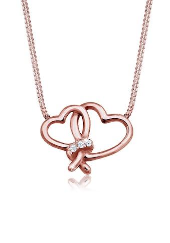 Diamore Collierkettchen »Herz Liebe Diamant (0.045 ct.) 925 Silber« kaufen