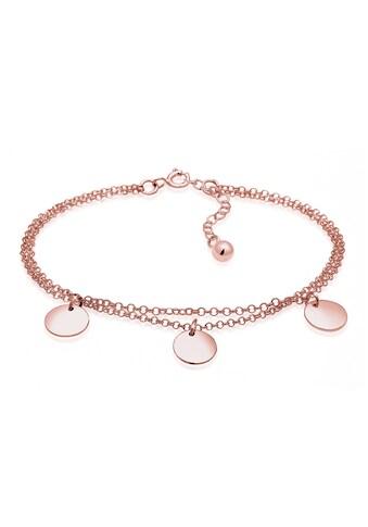 Elli Armband »2-reihig mit Plättchen 925 Silber« kaufen