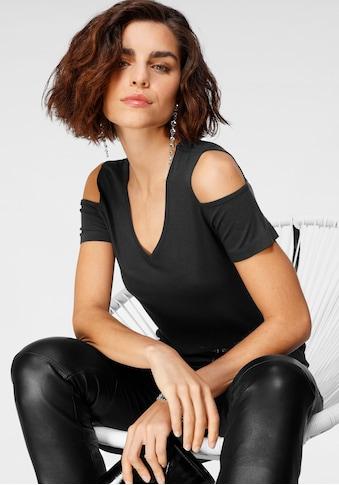 Tamaris V-Shirt, im Cold-Shoulder-Look - NEUE KOLLEKTION kaufen