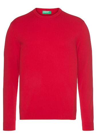 United Colors of Benetton Rundhalspullover, Unifarben kaufen