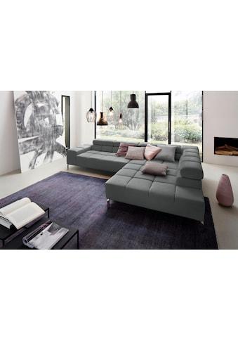 Places of Style Ecksofa »Ancona New«, wahlweise mit motorischem Sitzvorzug,alle... kaufen