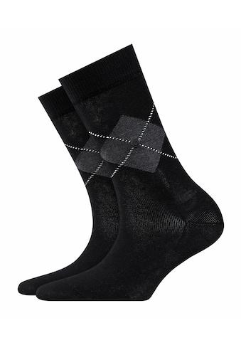Burlington Socken Black Argyle (1 Paar) kaufen