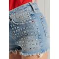 Superdry Jeanshotpants »SKINNY HOT SHORT«, mit coolen Applikationen