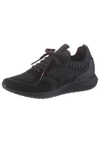 Tamaris Slip-On Sneaker »Fashletics«, in Strick-Optik kaufen