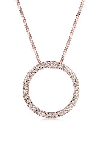 Elli Collierkettchen »Kreis Swarovski® Kristalle 925 Silber« kaufen