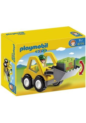 Playmobil® Konstruktions-Spielset »Radlader (6775), Playmobil 1-2-3«, Made in Europe kaufen