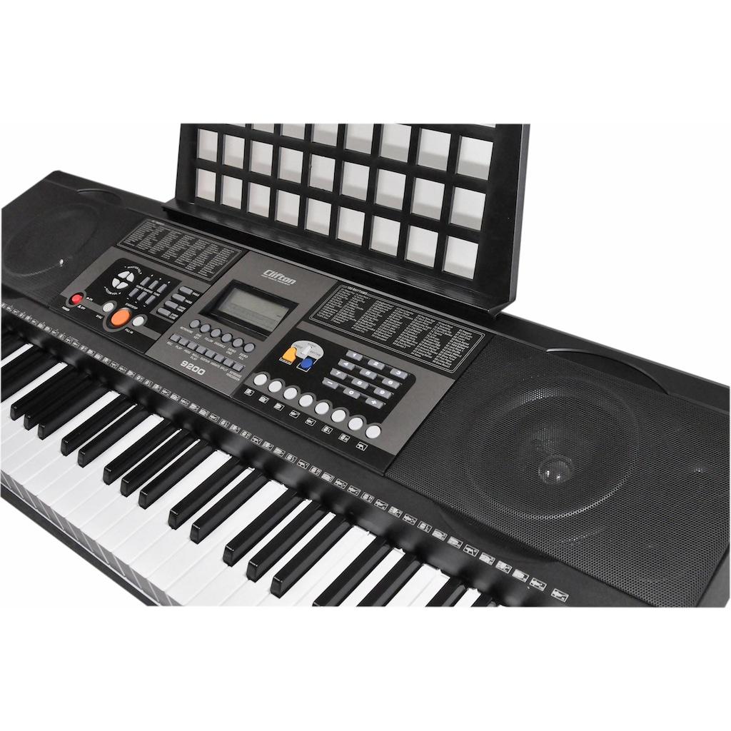 Clifton Keyboard »61-Tasten Keyboard mit LC-Display«, mit Ständer